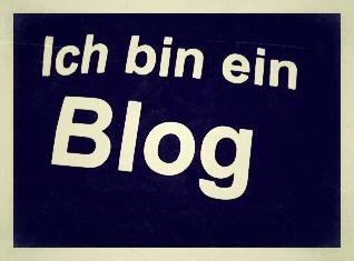 Schriftzug Ich bin ein Blog