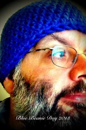 Mein Profilfoto mit blauer Haube