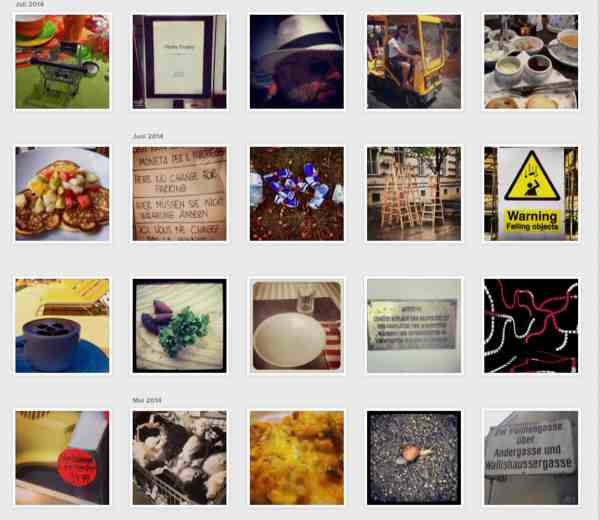 Collage von Fotos von Robert Lender auf Instagram