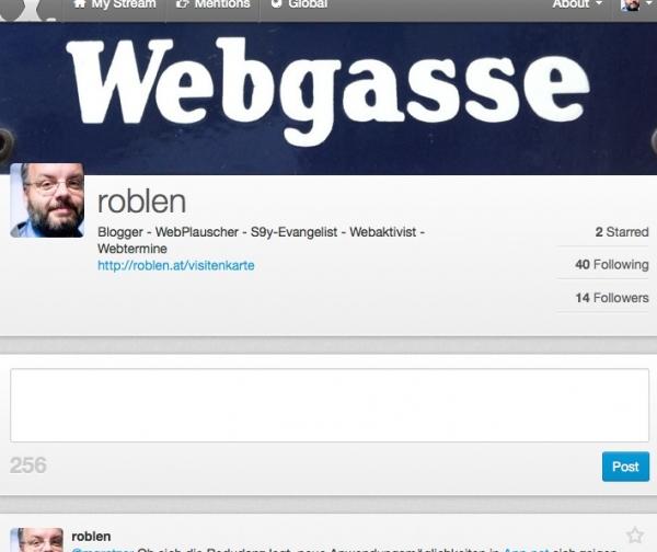 Header des Profils von Robert Lender auf App.net
