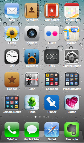 iPhone HomeScreeen - Screenshot