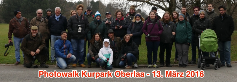 Gruppenfoto Teilnehmende Photowalk Kurpark Oberlaa 13.03.2016
