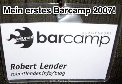 "Lanyard ""Barcamp Klagenfurt, Robert Lender, robertlender.info/blog"