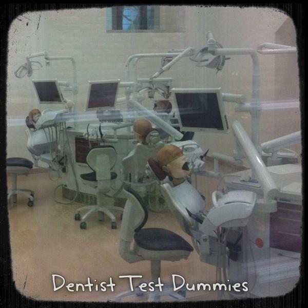 Zahnarztstühle mit Übungspuppen