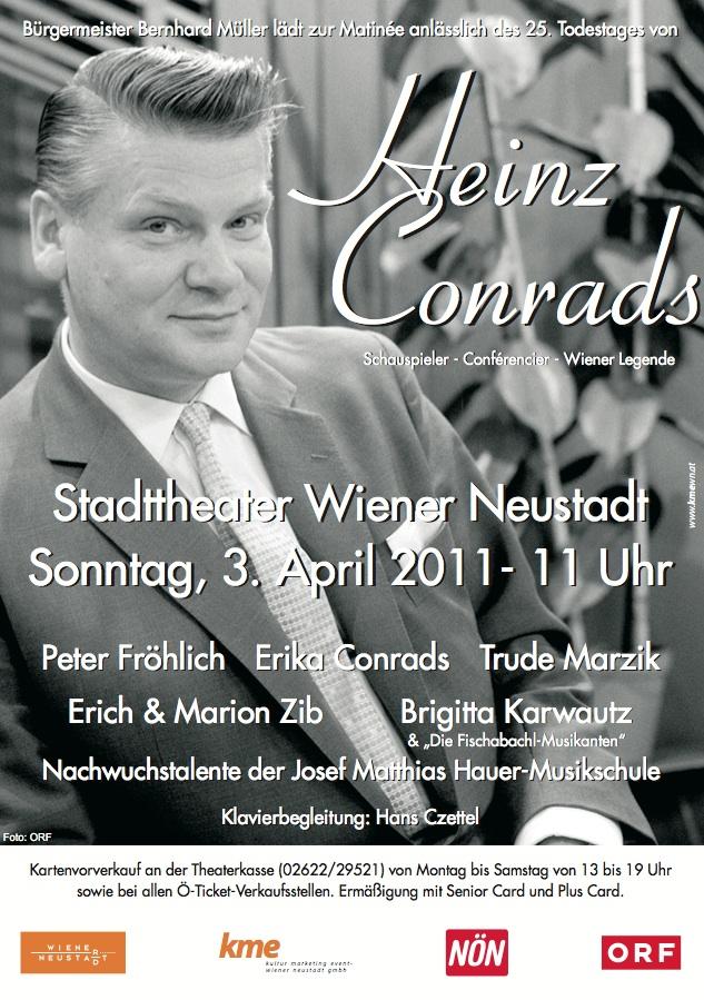 Flyer Heinz Conrads Matinee 3. April 2011